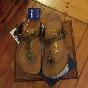 Birkenstock Gizeh Golden Brown Sz. 41 (L10/M8) NIB
